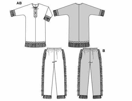 5815 burda schnittmuster indianer maschinensticken. Black Bedroom Furniture Sets. Home Design Ideas