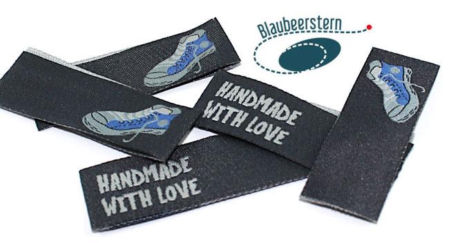Handmade Label mit Sneaker