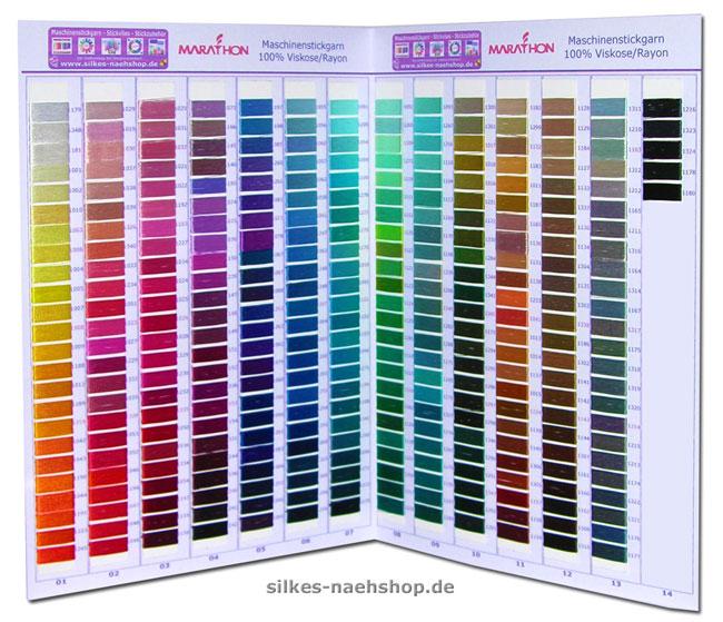 Produktabbildung Marathon Farbkarte Rayon