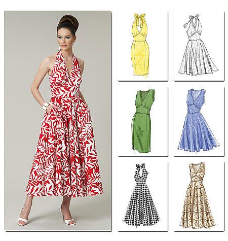 69ae72083bca Schnittmuster Kleid Vogue 8727 EASY - Maschinensticken, Nähen ...