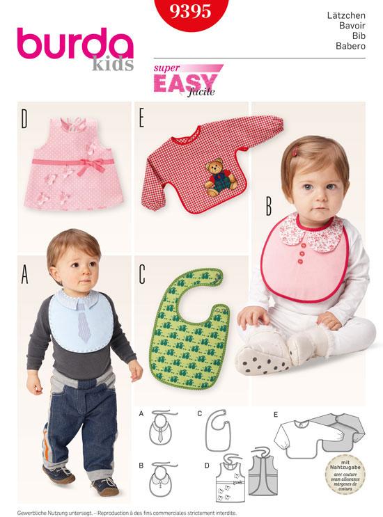 9395 BURDA Schnittmuster Baby-Lätzchen EASY! - Maschinensticken ...