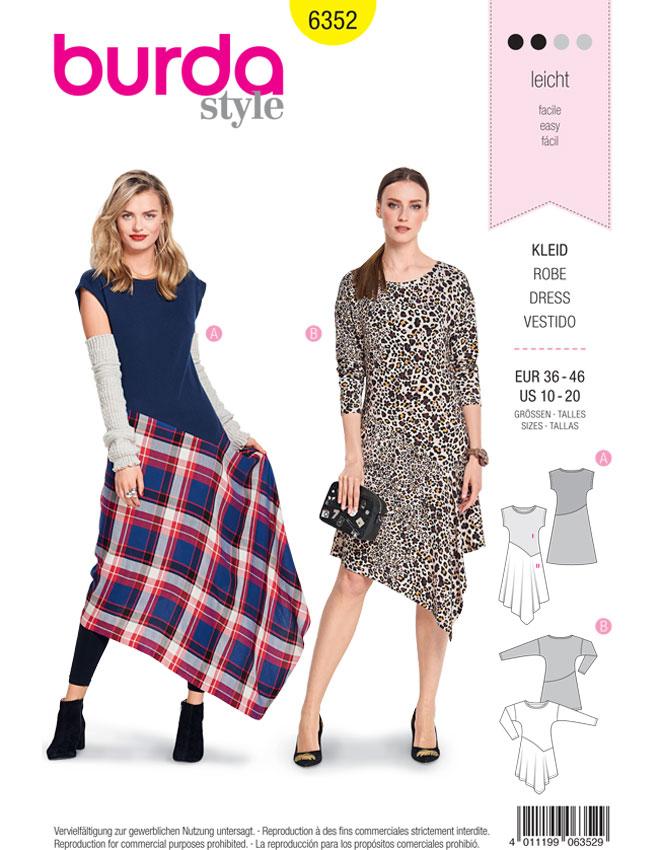 Schnittmuster Kleid Burda 6352