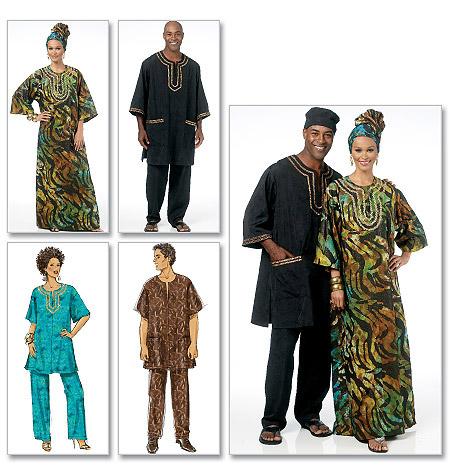 Schnittmuster afrikanische Mode Butterick 5725 - Maschinensticken ...
