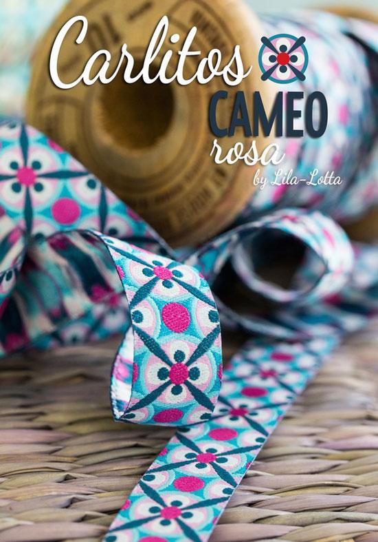 Produktfoto farbenmix Webband Carlitos Cameo rosa