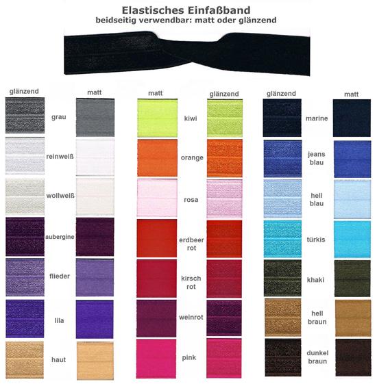 Farbkarte Einfaßband