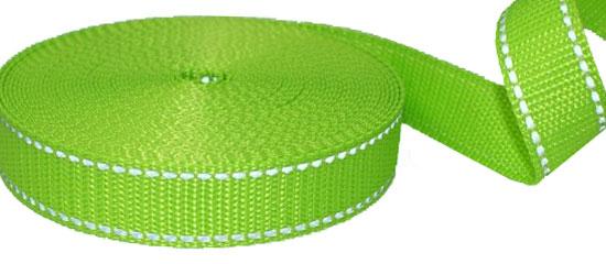 Produktfoto Gurtband mit Reflektorstreifen kiwi