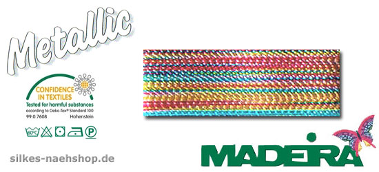 Maschinenstickgarn Madeira Metallic multicolor