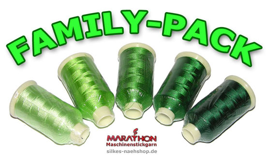 Marathon Maschinenstickgarn-Set Family-Pack