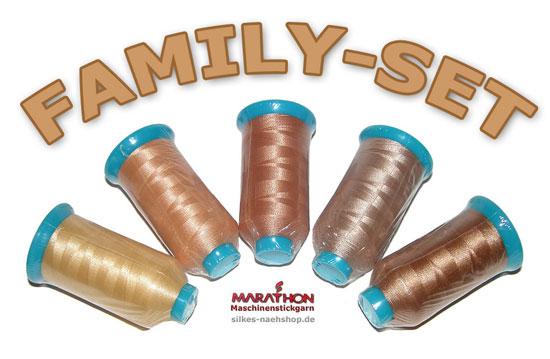 Produktabbildung Maschinenstickgarn-Set Family-Pack teint