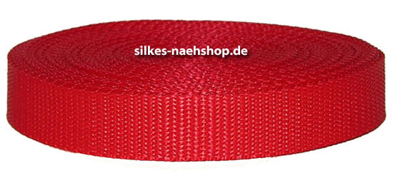 Produktfoto Gurtband 40mm rot