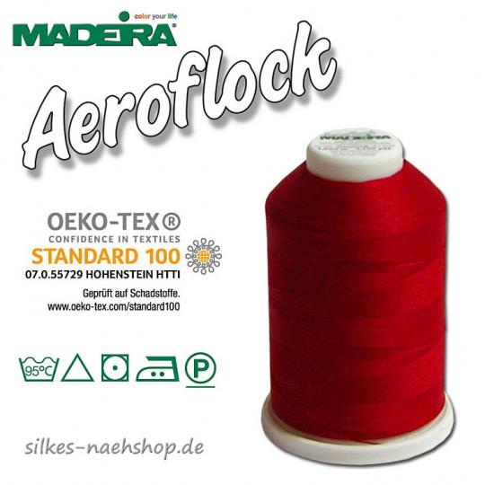 Madeira Aeroflock Bauschgarn rot 1000m