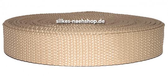Gurtband 40mm hellbeige