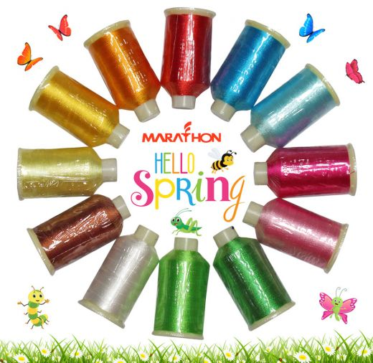 Marathon Maschinenstickgarn Set Rayon Hello Spring