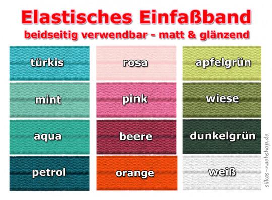 1m elastisches Einfaßband - freie Farbwahl