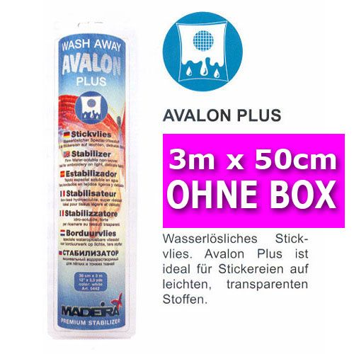 3m MADEIRA Stickvlies Avalon Plus OHNE Box