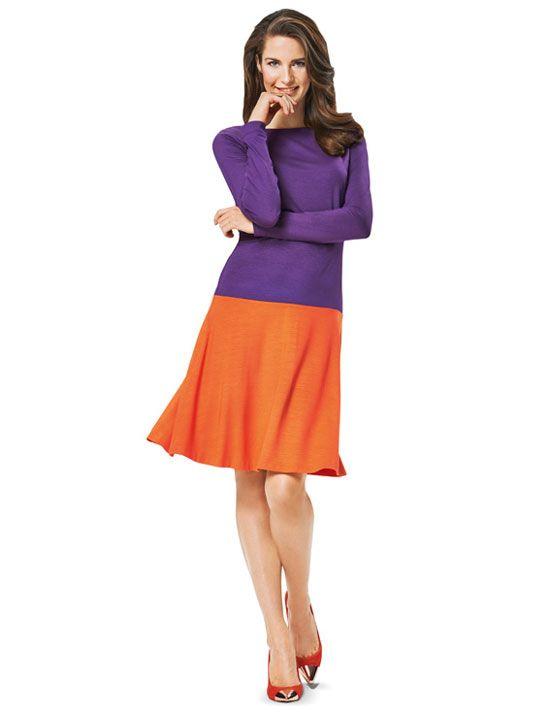 Schnittmuster Kleid super-easy zu nähen Burda 6988 ...