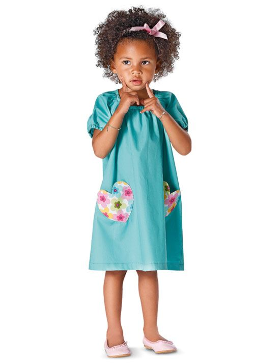 9438 BURDA Kids Schnittmuster Kleid Shirt SUPER EASY!