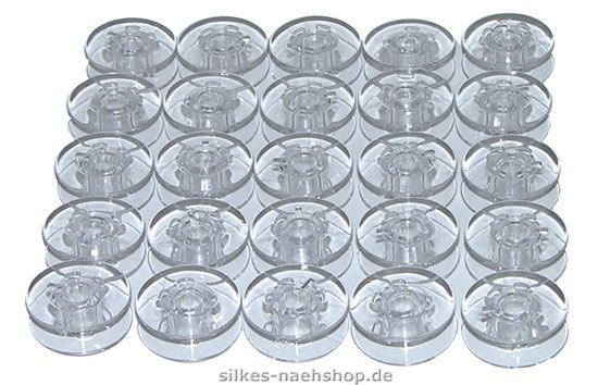 25er SPARPACK - Unterfadenspulen transparent 11,5mm