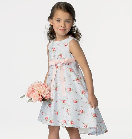 B6013 Butterick Schnittmuster Kinderkleid