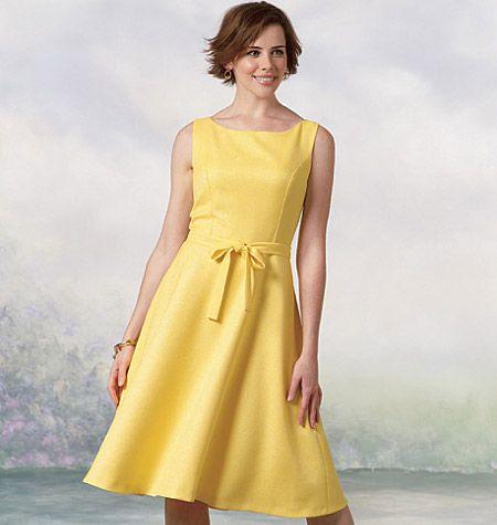 B4443 Butterick Schnittmuster Kleid