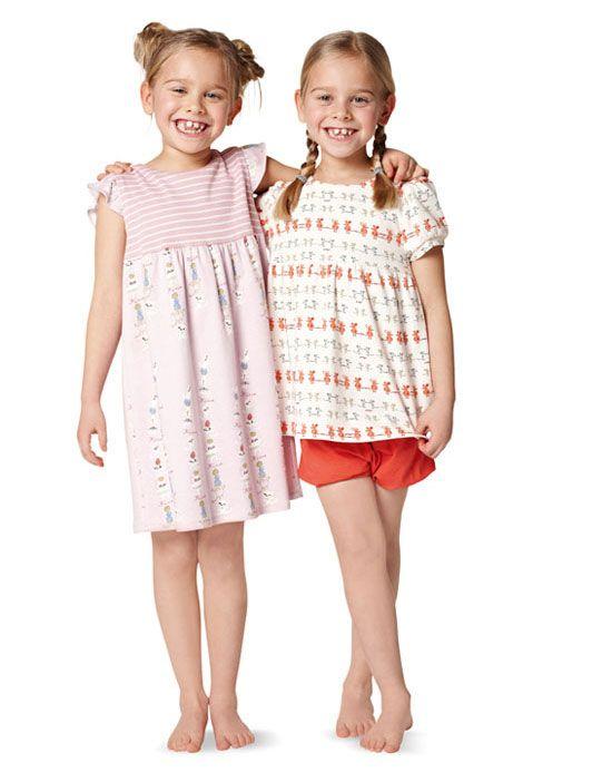 9432 BURDA Kids Schnittmuster Nachtwäsche