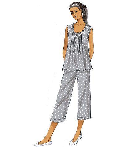 Schnittmuster Nachthemd Pyjama 5792 - Maschinensticken, Nähen ...