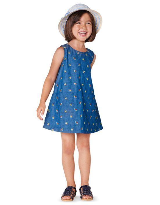 9420 BURDA Kinder Schnittmuster Kleid EASY!