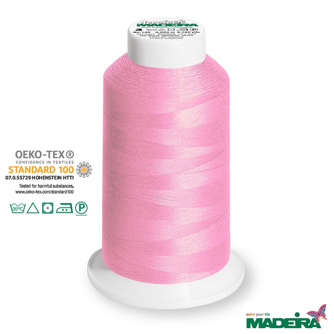 2500m Madeira Aerolock Overlockgarn rosa