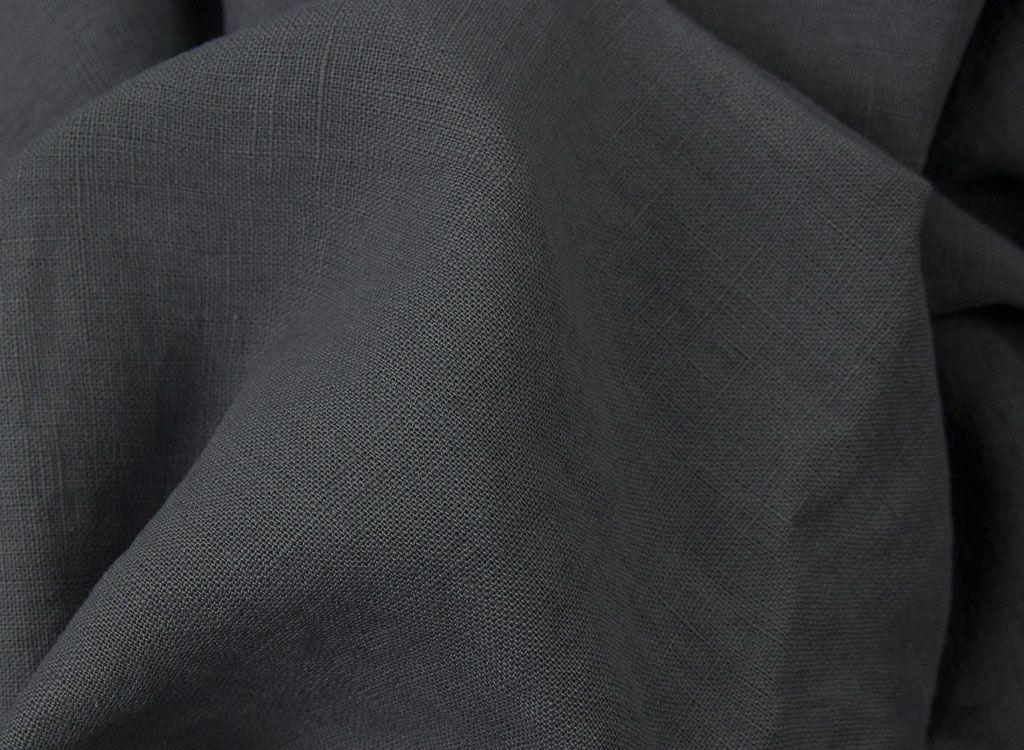 50cm Basic Leinenstoff anthrazit