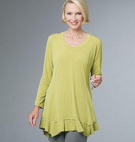 V8691 VOGUE Designer Schnittmuster Shirt & Shirtjacke
