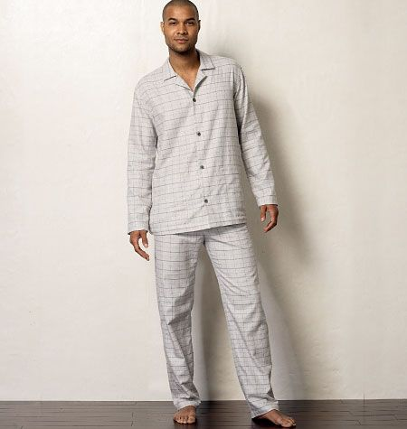 V8964 VOGUE Schnittmuster Herren Pyjama