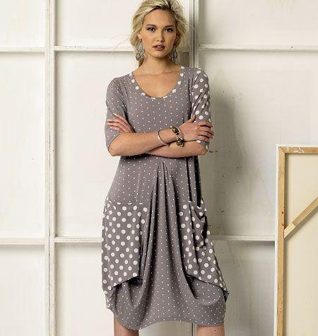V8975 VOGUE Designer Schnittmuster Kleid & Jacke
