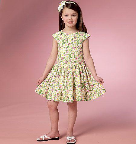 B6201 Butterick Schnittmuster Kinderkleid EASY!