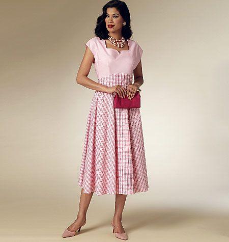 Schnittmuster Vintage-Kleid Butterick 6212 - Maschinensticken, Nähen ...