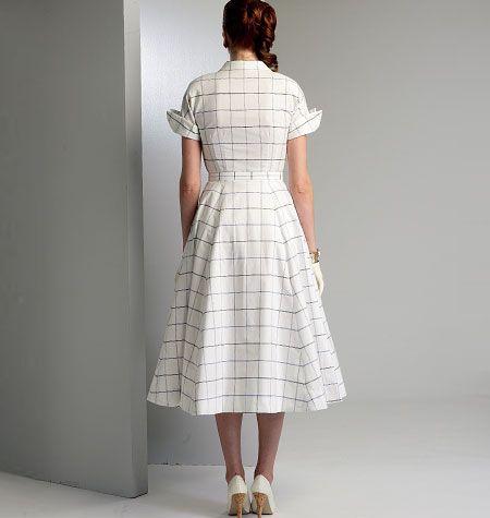 V9000 VOGUE Vintage Schnittmuster Kleid 50er Jahre