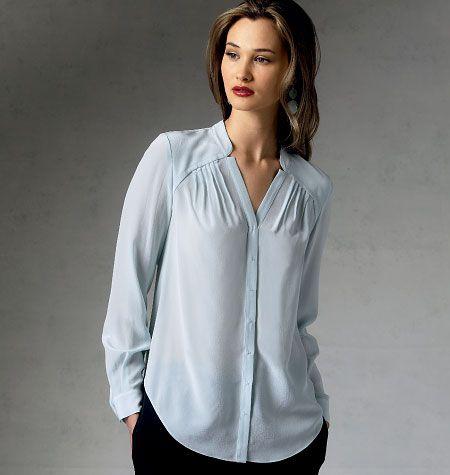 V1387 VOGUE Designer Schnittmuster Bluse Top