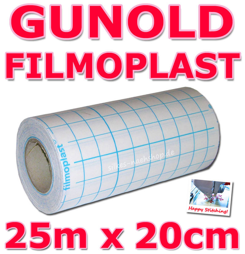 Gunold FILMOPLAST selbstklebendes Stickvlies 25m Rolle