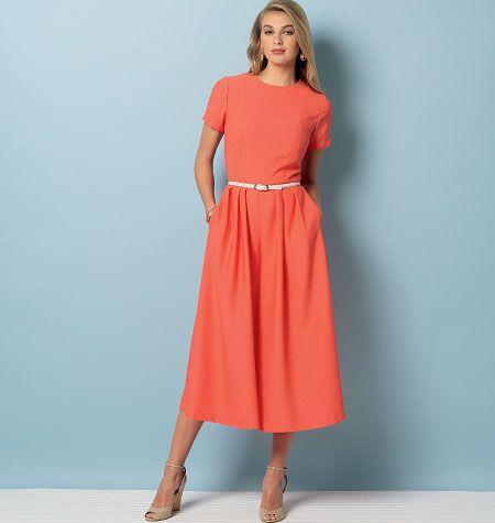 V9075 VOGUE Schnittmuster Kleid Overall EASY!