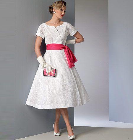 V9105 VOGUE Vintage Schnittmuster Kleid 50er Jahre