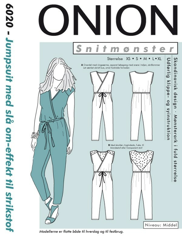 6020 ONION Schnittmuster Jersey-Overall XS-XL