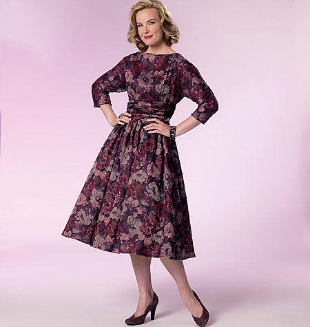 B6242 Butterick Schnittmuster Retro Kleid