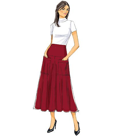 B6249 Butterick Schnittmuster Rock EASY!