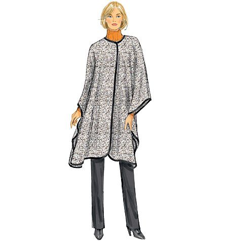Sehr Butterick Schnittmuster Poncho Jacke Mantel B6250 EL74