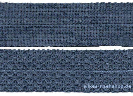 1m Knicktresse jeansblau