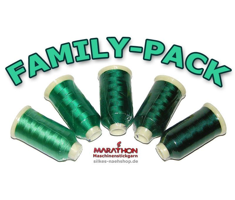 MARATHON Stickgarn Set Rayon FAMILY-PACK wood