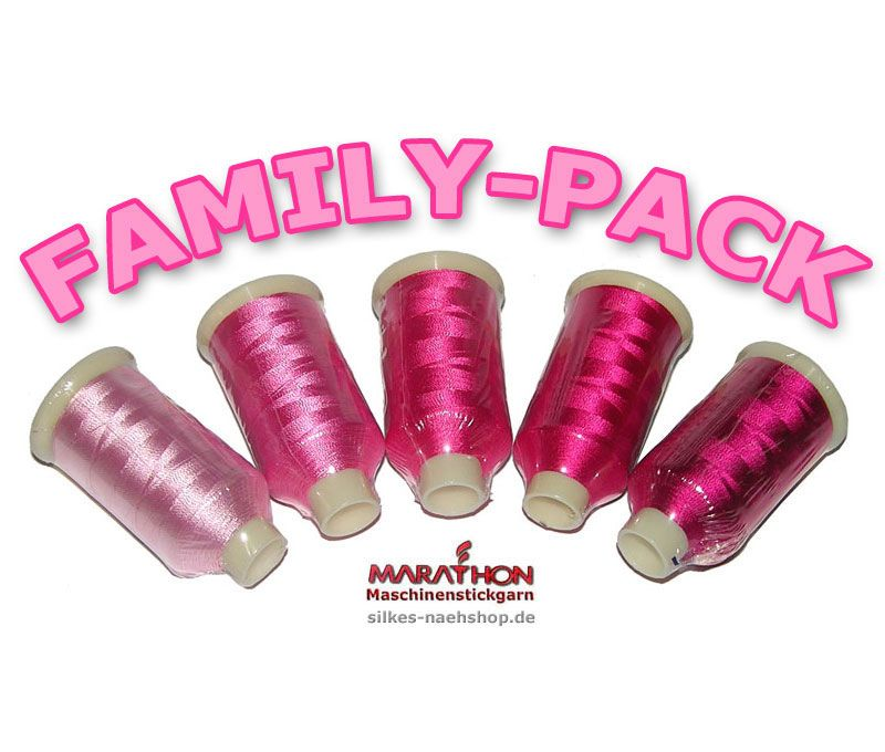 MARATHON Stickgarn Set Rayon FAMILY-PACK pink