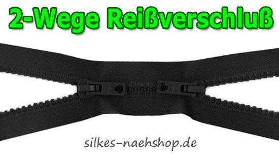 2-Wege Reißverschluß teilbar schwarz 65cm