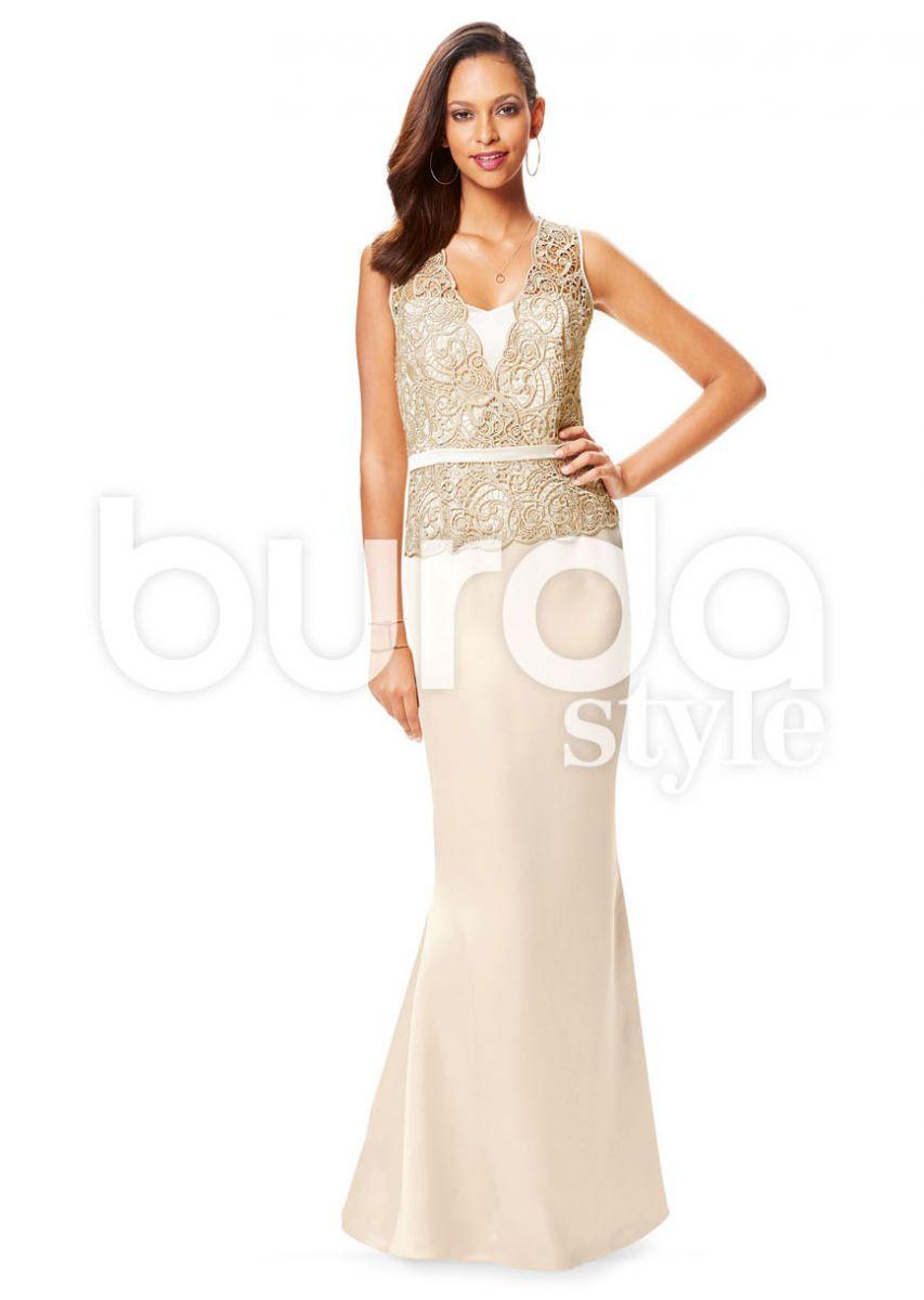 6646 Burda Style Schnittmuster Kleid mit Top