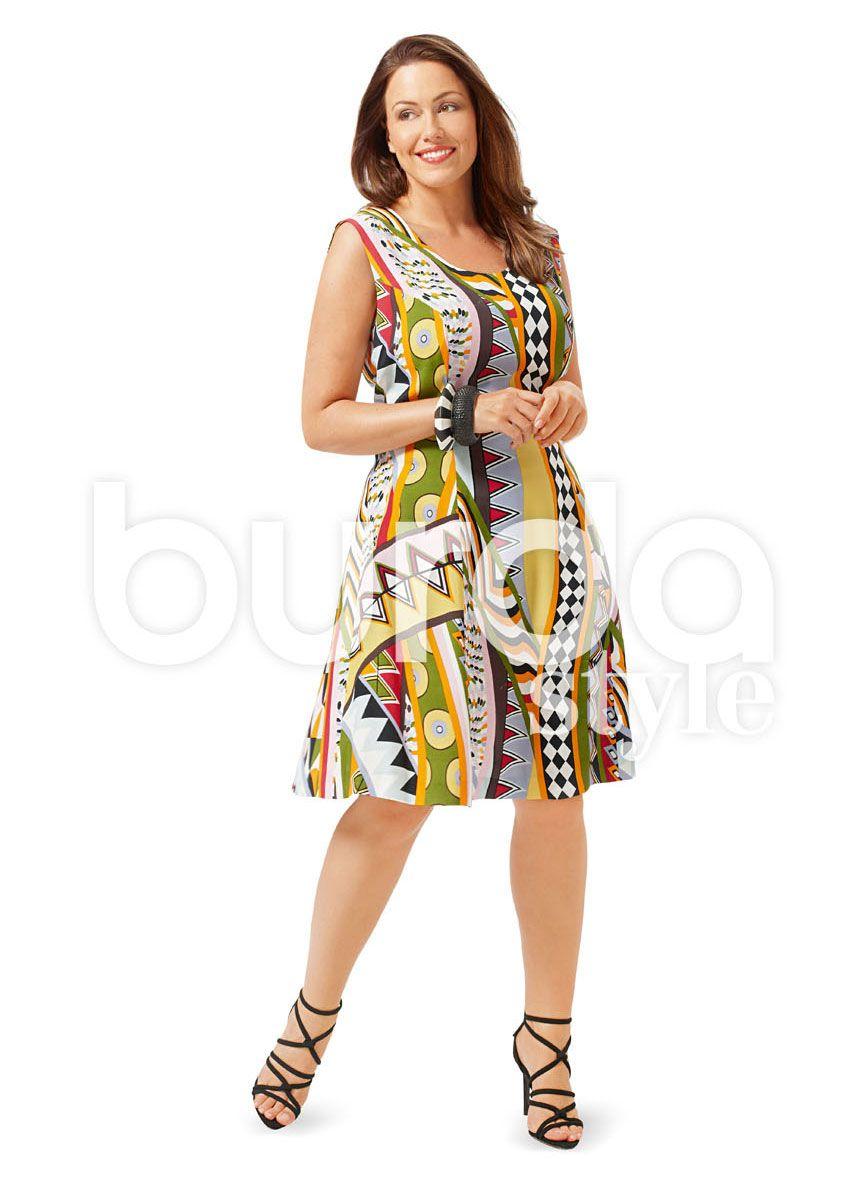 6680 Burda Schnittmuster Kleid