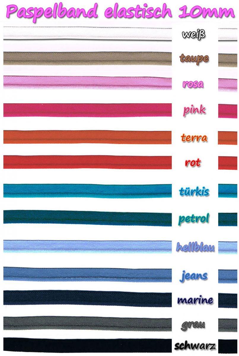 Paspelband elastisch - freie Farbwahl